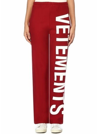 Vetements Pantolon Kırmızı
